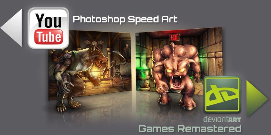 Photoshop Speed Art of Classic Video Games Remastered